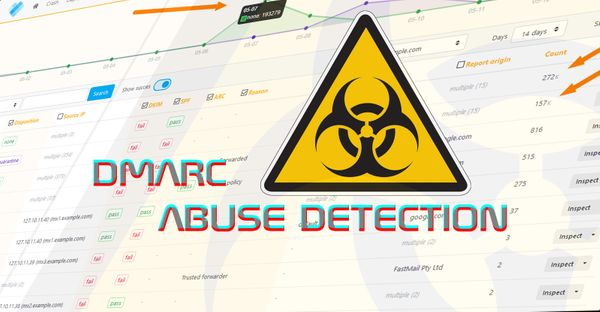 Detect email abuse using DMARC reports